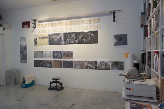 Interior View, Linn Underhill Studio, Lisle, NY, 2/22/2015
