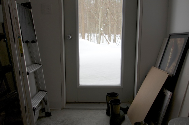 View out the back door of Linn Underhill's studio, Lisle, NY