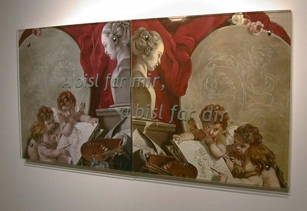 Ken Aptekar, A bisl far mir, a bisl far dir, 2003, 60